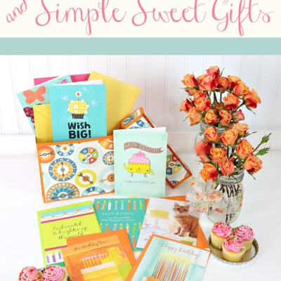 Birthday Card Organizer Box & Simple Sweet Gifts