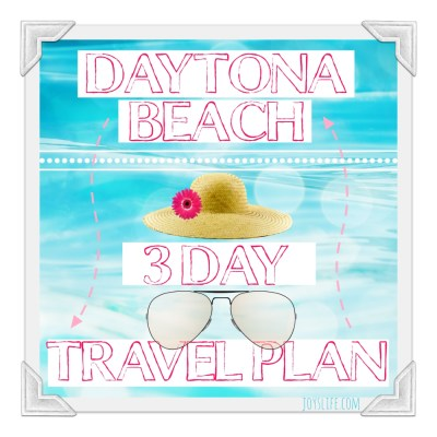 Daytona Beach 3 Day Travel Plan