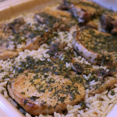 Easy Baked Pork Chops and Rice Recipe