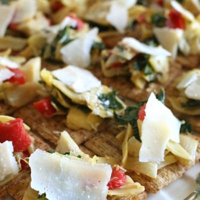 Simple Christmas Table Decor Tips and an Artichoke & Kale Bruschetta Topper Recipe