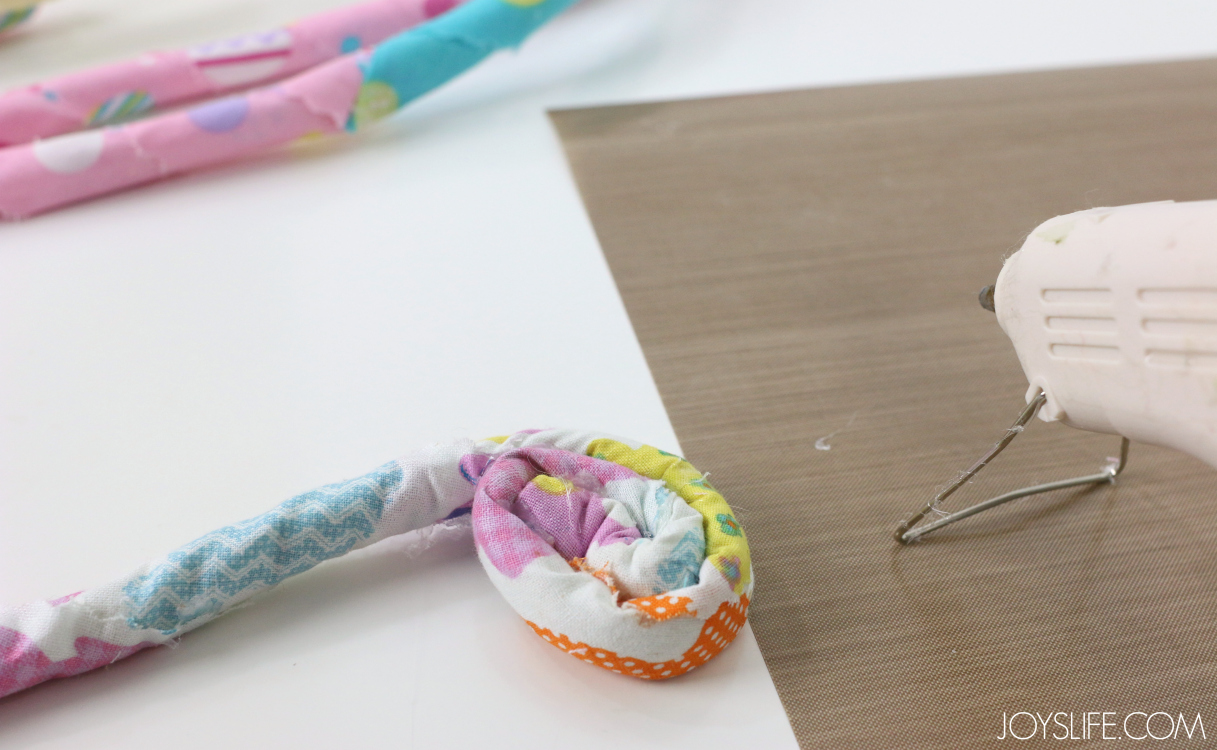 Fabric wrapped rope for Rope Easter Basket