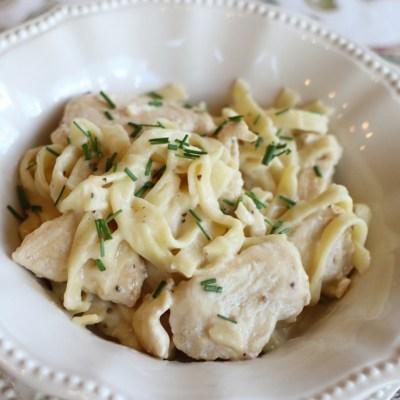 Creamy Chicken Fettuccini Alfredo