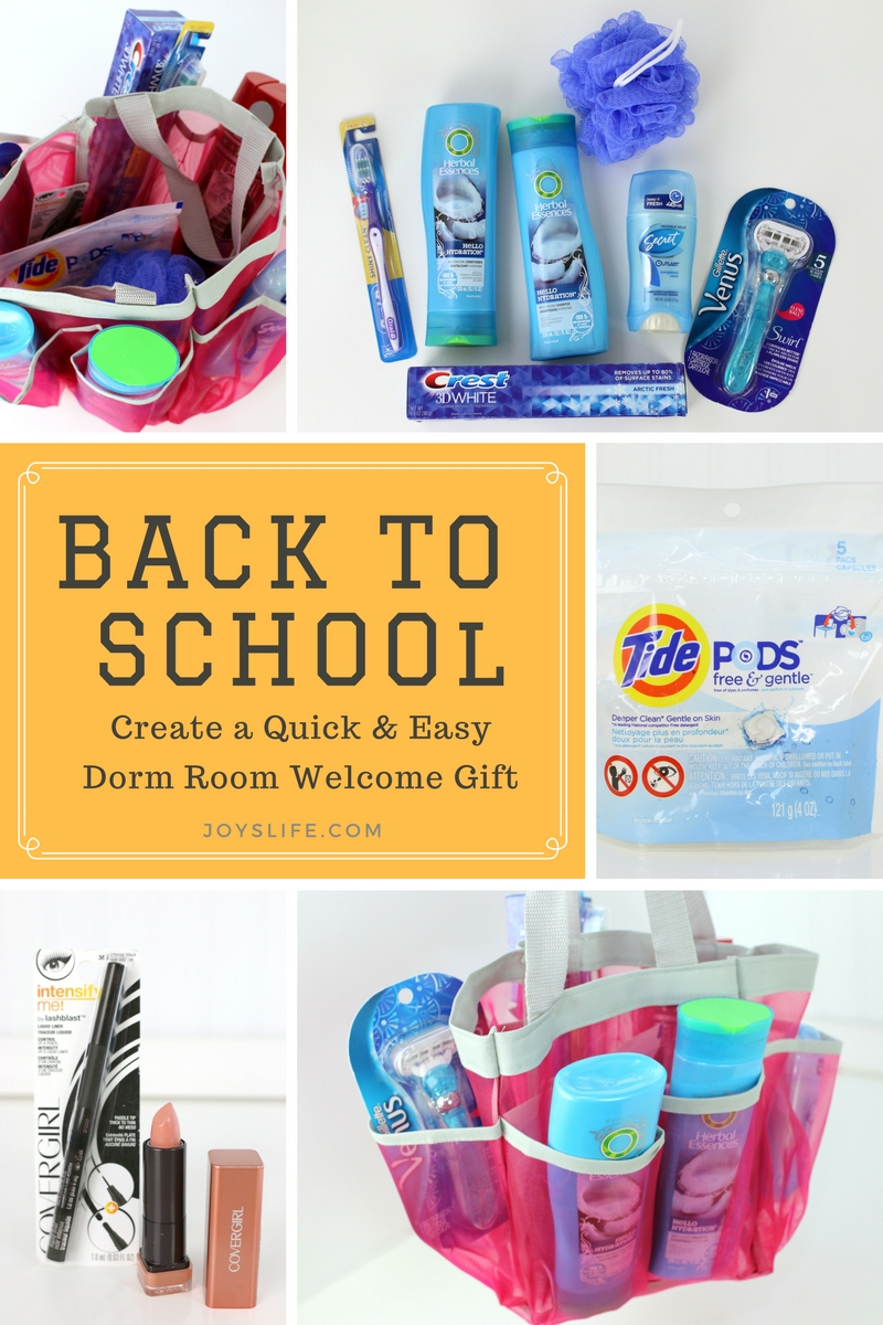 Easy Dorm Room Welcome Gift Bag