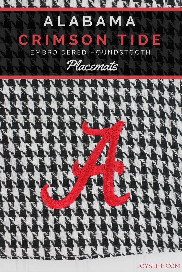 Alabama Crimson Tide Embroidered Houndstooth Placemats