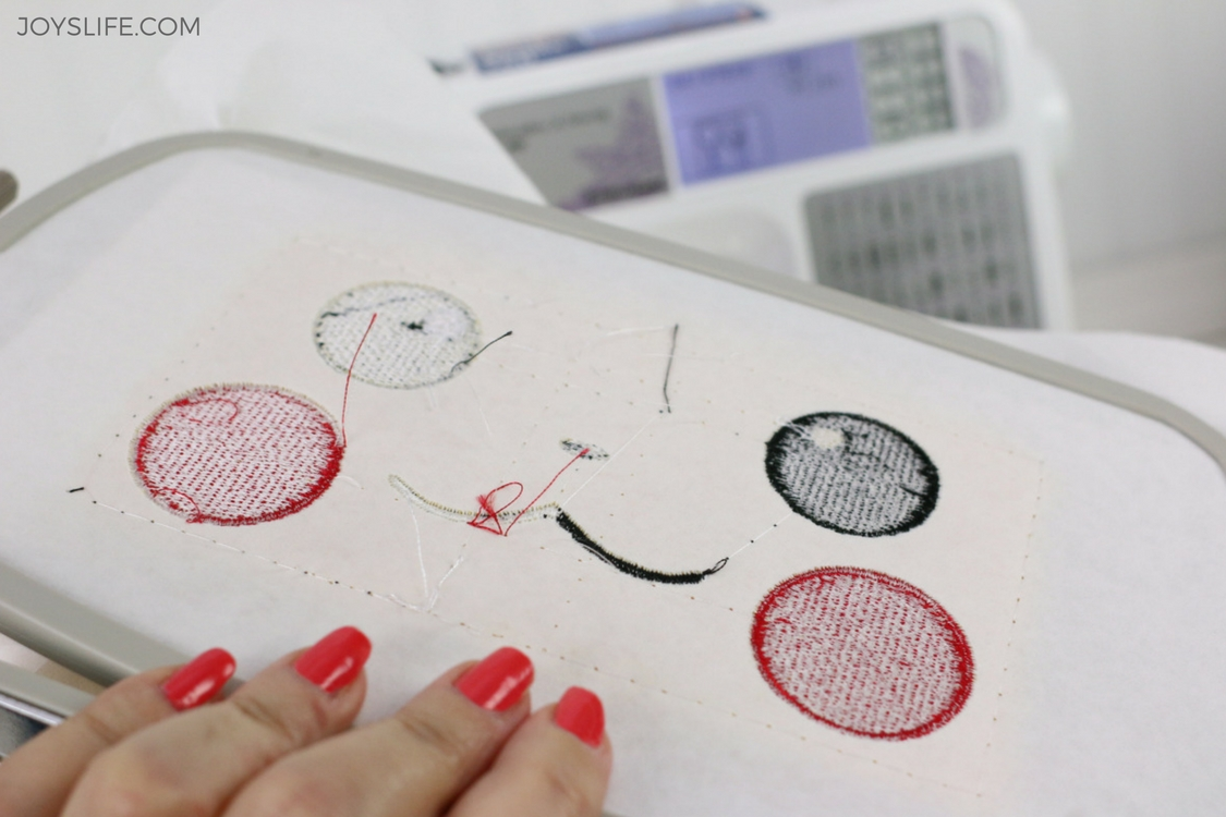pikachu back embroidered hoop