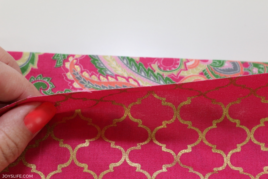fabric edges right side up