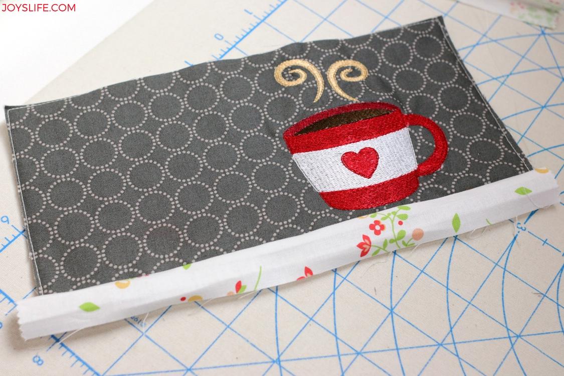 mug rug binding front