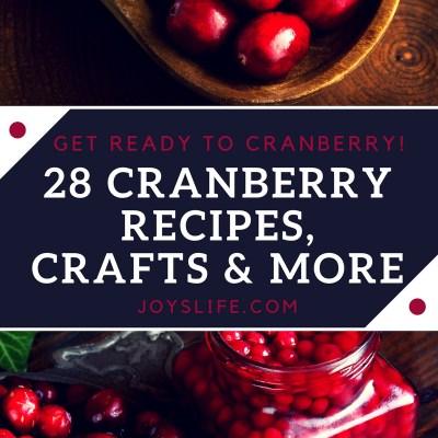 28 Cranberry Recipes, Crafts & More