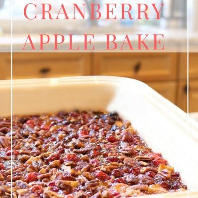 Tart & Sweet Cranberry Apple Bake Recipe