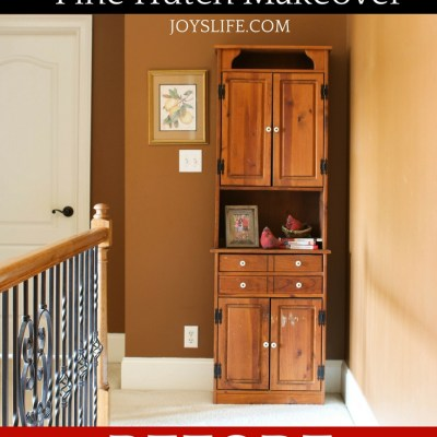 Hallway Refresh and Pine Hutch Makeover