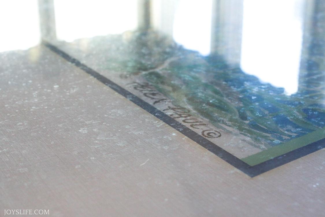 dirty frame glass