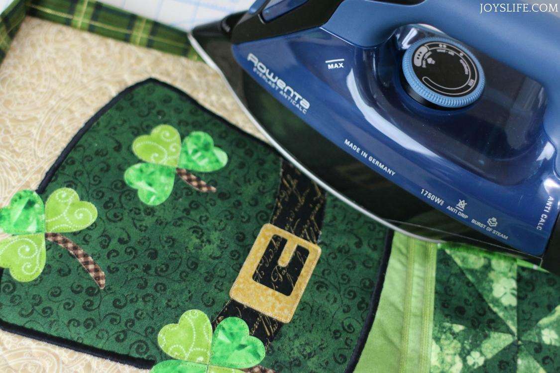 mini quilt binding ironing