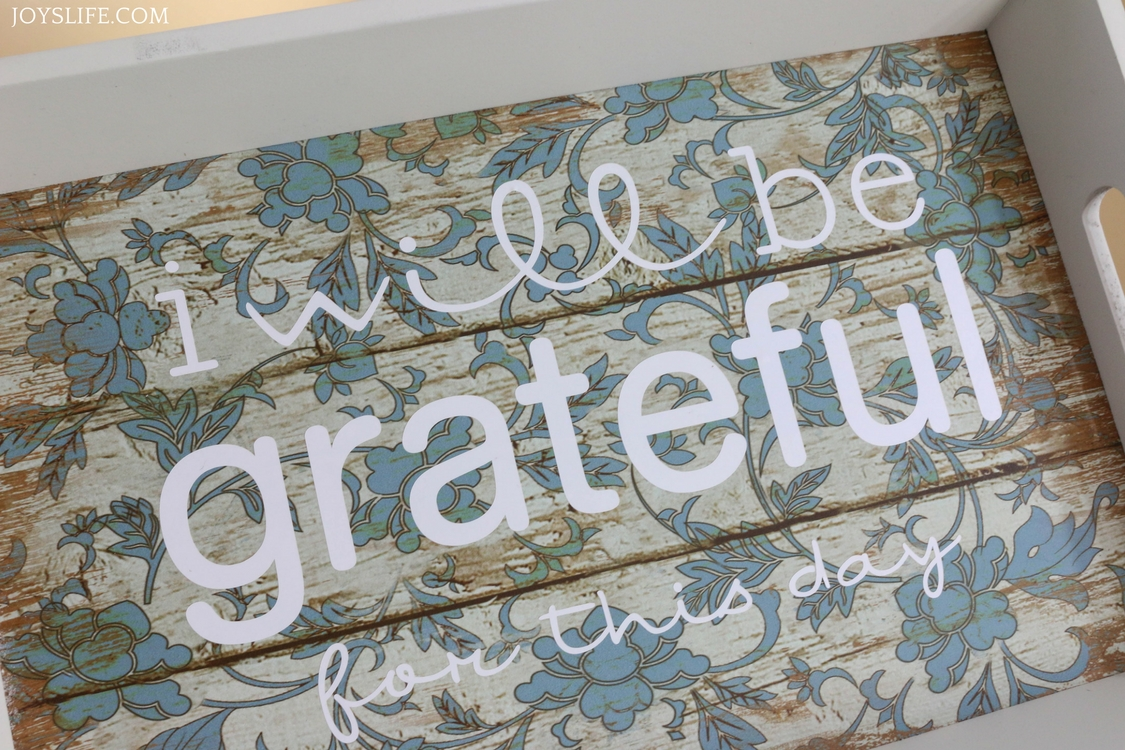 be grateful vinyl tray