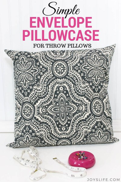 Simple Envelope Pillowcase for Throw Pillows