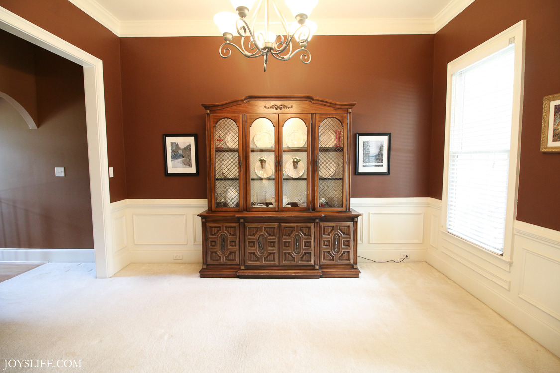 china cabinet alone in the dining room