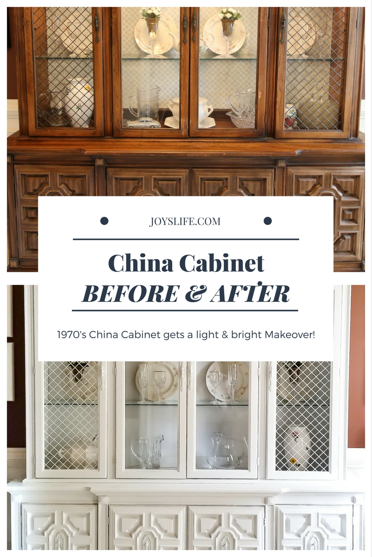 China Cabinet Makeover Pinterest Before and After