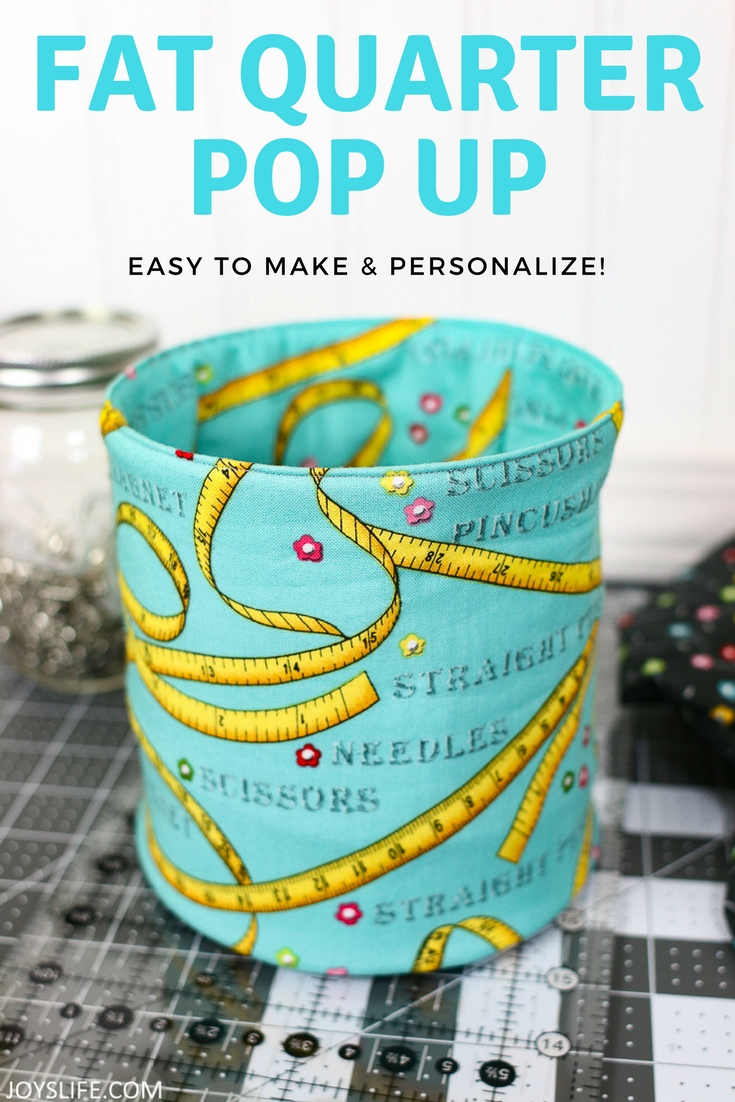 Fat Quarter Pop Up Fabric Bucket