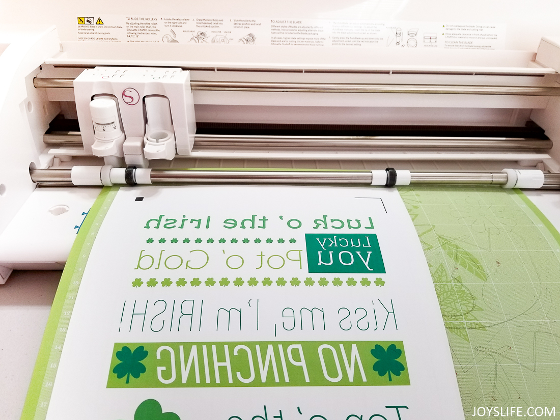 picture relating to Silhouette Printable Heat Transfer known as Silhouette Printable Information St. Patricks Working day Wall Striking