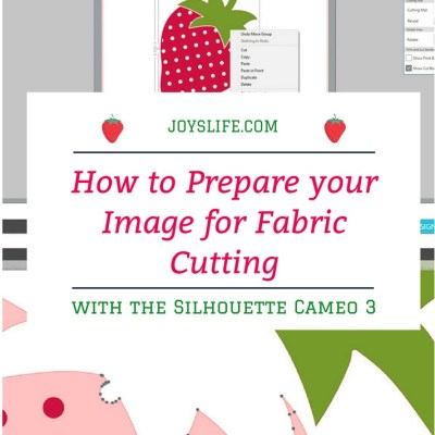 How to Prepare your Image for Fabric Cutting with the Silhouette Cameo 3