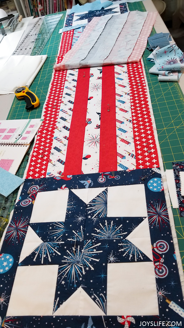 stars and stripes quilt table runner