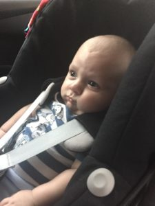 A Very Grumpy Baby D Waiting to get out the car