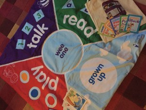 Our PlayTalkRead Mat and Goody Bag