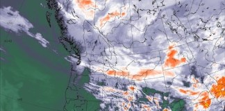 NOAA 캐나다 서부 기상도