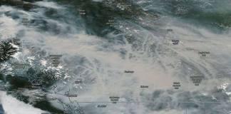 산불 위성사진