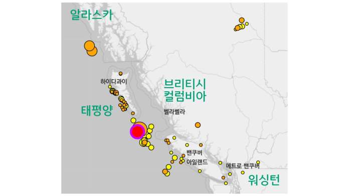 BC 인근 지진