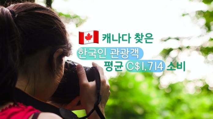 한국인 관광객 캐나다 소비