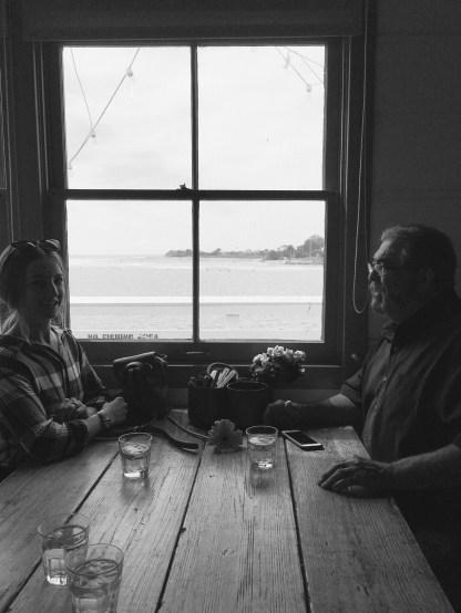 Dad and I at Malibu Farm Cafe