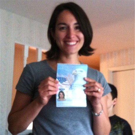 Joy and her passport
