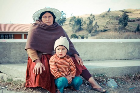 Bolivian mom and child