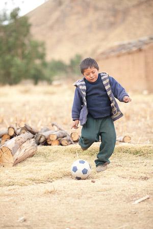 Wilfram playing soccer