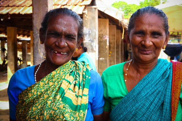 ladies at the market in Sri Lanka