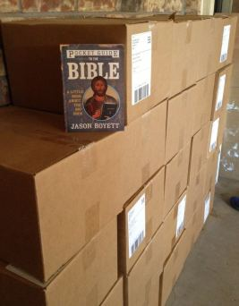 pocket guide to the bible in garage