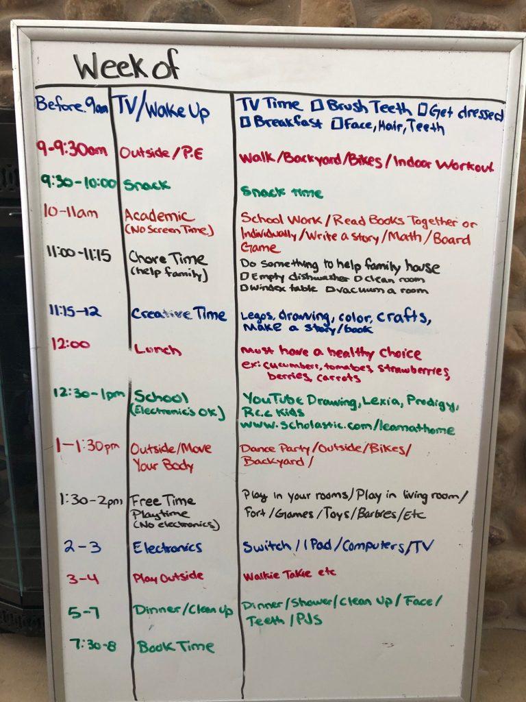 schedule for work