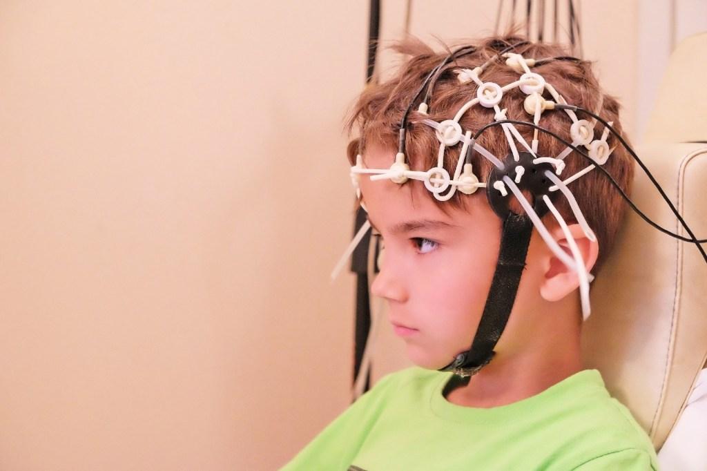 a child getting a brain test