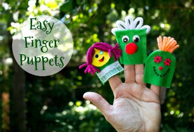 Easy Finger Puppets tutorial from felt