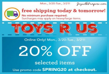 ToysRUs Free Shipping Deal March 2017