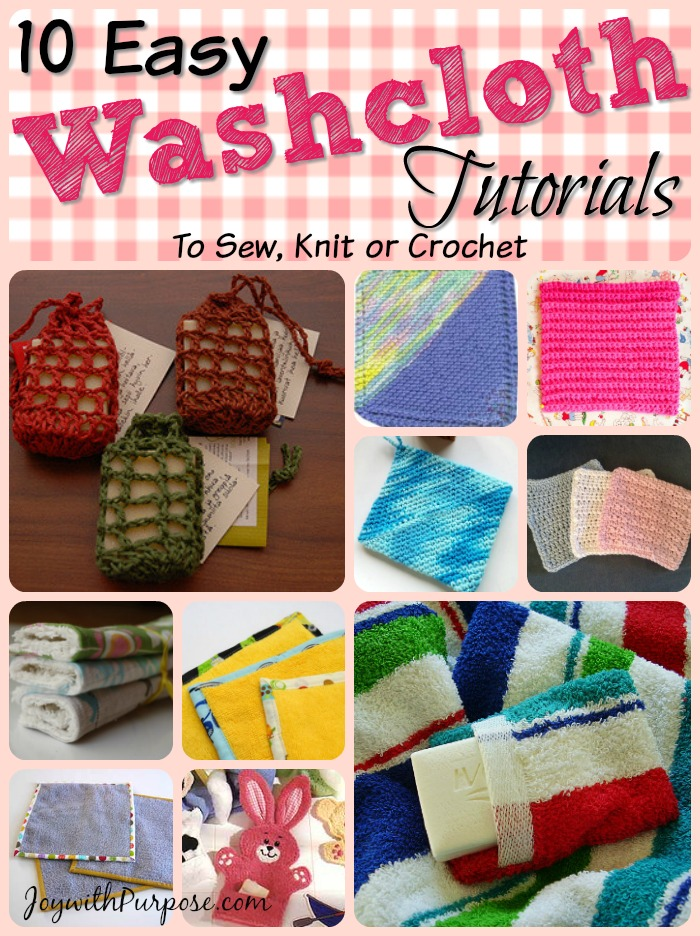 Washcloth Tutorials that you can make
