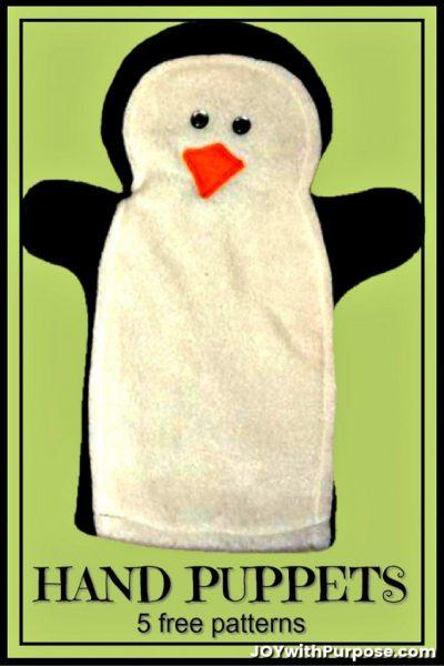 fleece handpuppet patterns