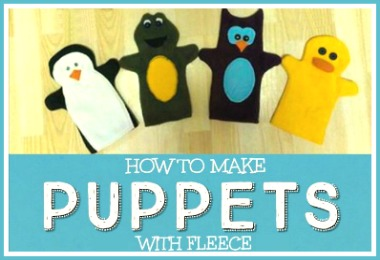 How you can easily make hand puppets with fleece DIY tutorial free printable patterns