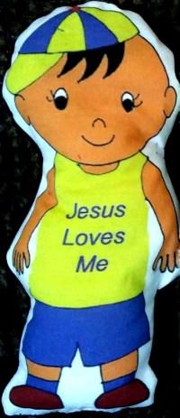 "Easy doll to sew ""Jesus Loves Me"""