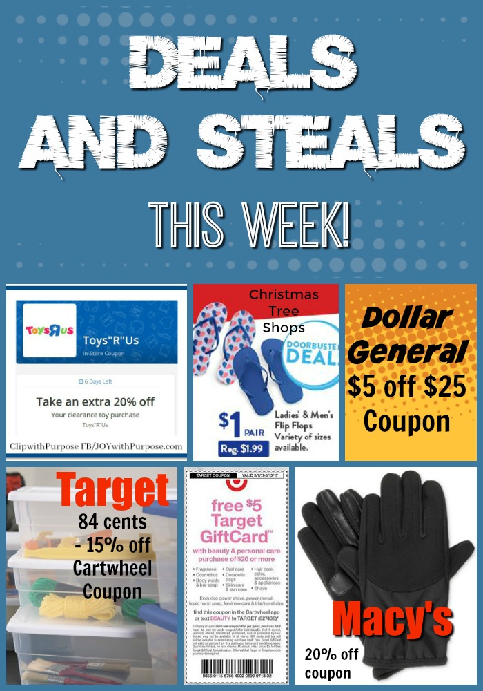 Coupon Savings! Deals and Steals this Week! - Joy with PURPOSE