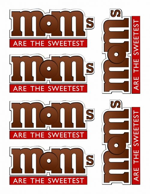 M&M Printable MOMS label