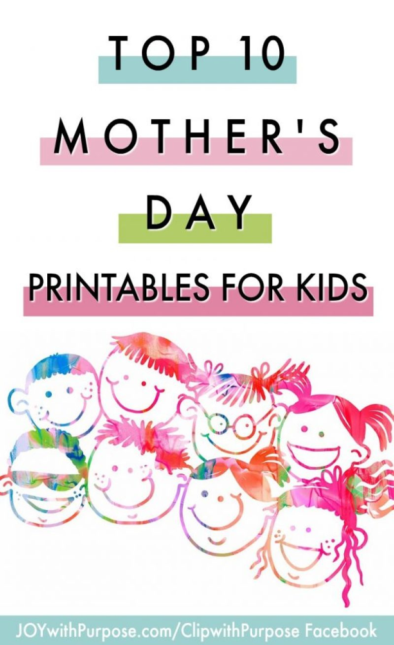 Top 10 FREE Mother's Day Printables for Kids