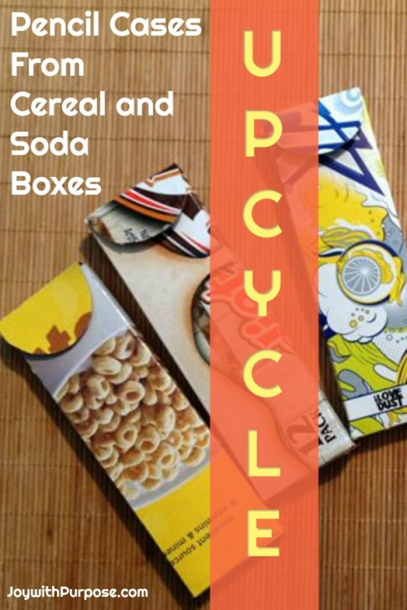 Upcycled Pencil Cases from Cereal and Soda Boxes