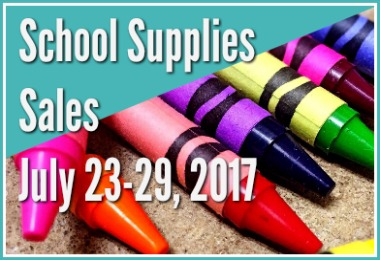 Back to School Sales for July 23 - July 29 2017