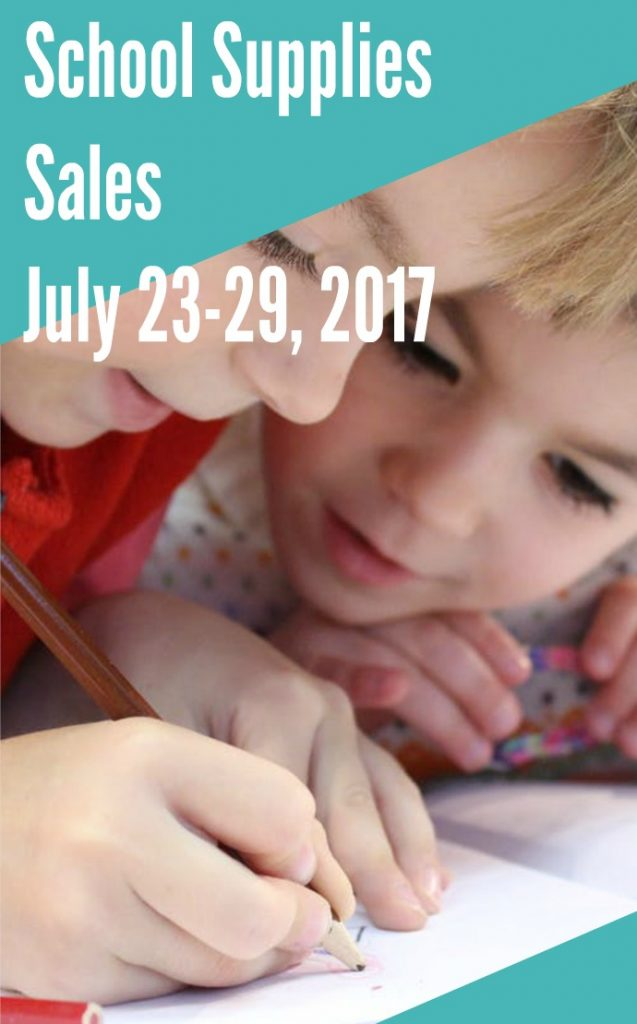 Back to School Sales for July 23 through July 29 2017
